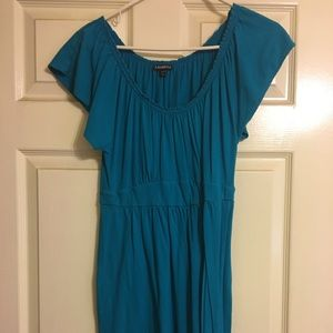 Blue almost teal dress